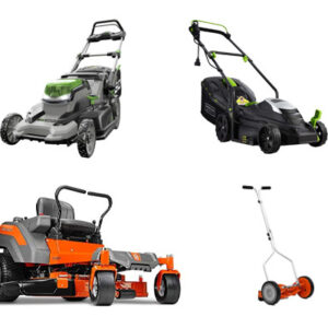 Lawn mower (Riding mower, Robotic lawn mower)